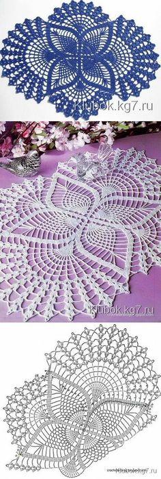 Oval crochet doily pineapple crochet doily oval by kroshetmania Filet Crochet, Crochet Mat, Crochet Doily Diagram, Crochet Dollies, Crochet Doily Patterns, Thread Crochet, Crochet Designs, Crochet Flowers, Hand Crochet