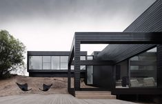 This beautiful house on the Mornington Peninsula - Australia, designed by  StudioFour, is a great example of timeless yet contemporary architecture.  Located with views over the peninsula and surrounded with coastal  vegetation, this place exudes space, light and serenity.  I love the black exterior timber panelling, a style that looks smart and  integrates well with the landscape, and the gorgeously moody photography by  Shannon Mcgrath.  To read the full article, head to Habitus living…