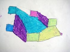 Abstract art, inspired by Paul Klee. Art lesson for children aged 6-8