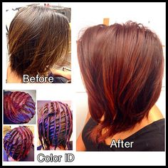 Talk about a transformation! Before, during, and after - the color and style makeover process is one of our favorite things to see! Do you have photos of an amazing transformation? Let us in on your secret success, and tag #TricociCareers! #SalonCareers #SpaCareers  Photo Credit: @KwanCColoristMT