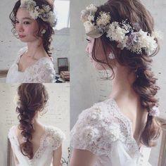 いいね!3,114件、コメント19件 ― マリさん(@brillantmari)のInstagramアカウント: 「* * ウェディングヘア♡ * @mille_la_chouette の花かんむり * まるで生花のように みえます♡ 花嫁さまにオススメ♡ #ヘアアレンジ #fashion #ウェディング…」