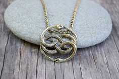 NeverEnding Story Antique Gold Necklace Auryn Necklace Long