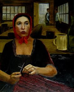 Madame Defarge Knitting by sarah858 at DeviantArt. From A Tale of Two Cities, by Dickens, one of the most famous knitters in literature. She was knitting in code the names of traitors to the Revolution, while listening to them in her husband's wine shop, where the revolutionaries held their meetings.