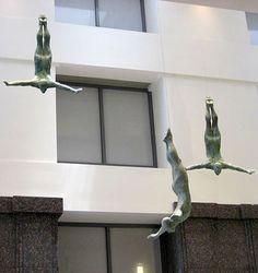 Sculpture by Bill Starke Pottery Sculpture, Wood Sculpture, Wall Sculptures, Human Sculpture, Scale Art, My Art Studio, Great Paintings, Wire Art, Whimsical Art