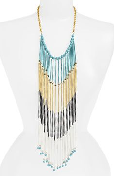 ShopStyle: BP Mixed Metal Chain Fringe Necklace