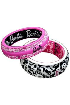 Before you step out on the town, don't forget your Barbie bangles! Set of 2 Bangles. $22
