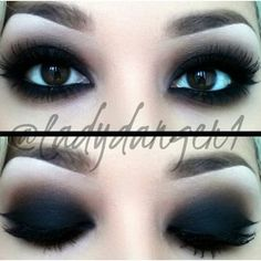 Dark make up Goth makeup