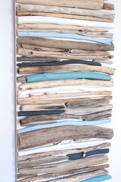 DIY Coastal Decor Painted Driftwood Wall Art Create a beautiful coastal art piece for your wall using driftwood and a cool mix of blues white and grey paint. The post DIY Coastal Decor Painted Driftwood Wall Art appeared first on Wood Ideas.