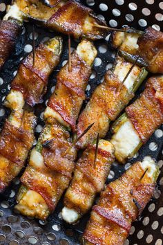 Brown Sugar Bacon Wrapped Cream Cheese Stuffed Jalapenos l greens & chocolate