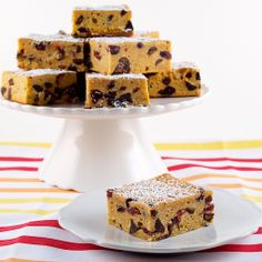 Pumpkin Banana Cranberry Chocolate Chip Blondies | Baking and Cooking Blog - Evil Shenanigans