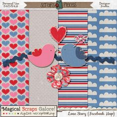 FREE Love Story | SNP February Facebook HOP 13-19 By Magical Scraps Galore by Marina
