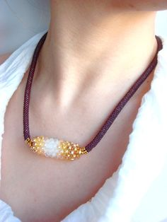 Necklace associated from Miyuki Japanese beads by Vasilisinsunduk