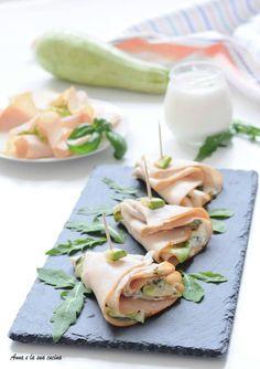 Ventaglietti di tacchino con zucchine e formaggio