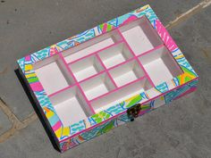 Lilly Pulitzer Inspired Jewelry Box on Etsy, $40.00