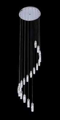 Spiral crystal chandelier multiple building chandelier restaurant spiral pendant 19lights pendant lighting aloadofball Image collections