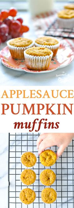 Healthy Pumpkin Muffins With Applesauce + Easy Lunch Ideas! Healthy Pumpkin Muffins With Applesauce + Easy Lunch Ideas! – The Seasoned Mom Weight Watcher Desserts, Fall Snacks, Healthy Snacks For Kids, Baby Food Recipes, Snack Recipes, Old Recipes, Healthy Recipes, Recipies, Pumpkin Muffin Recipes