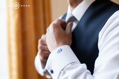 Getting ready.  Sweet custom monogrammed dress shirt! (Photo by www.ningwong.com)