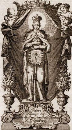 Image pieuse de la Vierge enceinte de Bogenberg