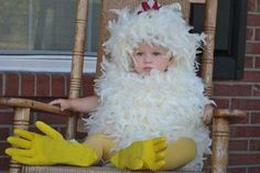 Should Nora be a chicken for Halloween?  too funny!