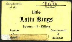 Lovers-n-Killers: Chicago gang members' business cards from the 1970s and 1980s | Dangerous Minds