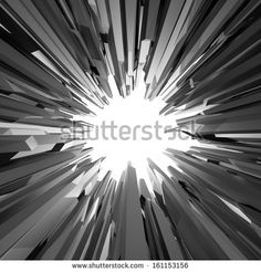 3d black crystal shape, abstract round broken background by wacomka, via Shutterstock