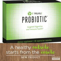 NEW Product from #itworks called #PROBIOTIC order at kristalatimer.myitworks.com