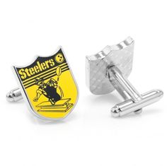 Vintage NFL: Pittsburgh Steelers Cufflinks with Sterling Silver