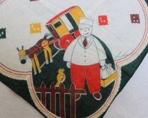 Handkerchief Tom Lamb Designer Cotton hand rolled edges Milk Man Childs Juvenile…