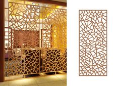 Patterns of laser cut screens.