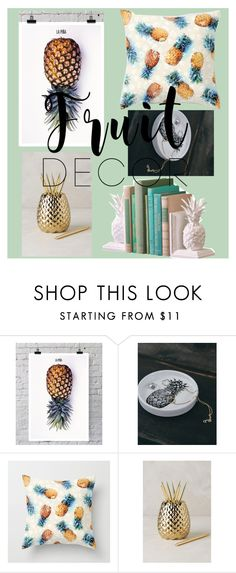 """Pineapple Decor #FruitDecor #SummerVibes"" by kitkat308 on Polyvore featuring interior, interiors, interior design, home, home decor, interior decorating, La Pina, Anthropologie and fruitdecor"