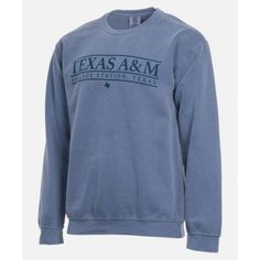 Texas A&M Aggie Basic Blue Jean Sweatshirt