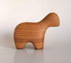 Antonio Vitali (Swiss, sculptor & toy designer, 1909-2008) | Hand-tooled wooden toy lamb