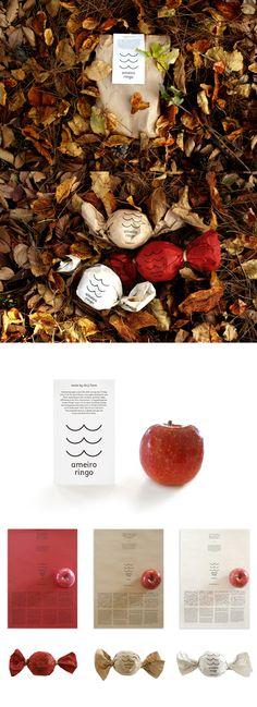 ameiro ringo Corporate Design, Brand Identity Design, Graphic Design Branding, Advertising Design, Apple Packaging, Craft Packaging, Packaging Design, Book Design, Web Design