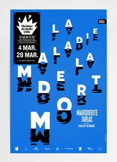 Théâtre de Belleville - Saison 2013 - 2014 on Behance Type Posters, Graphic Design Posters, Graphic Design Typography, Typography Layout, Typography Poster, Lettering, Typography Inspiration, Graphic Design Inspiration, Print Design
