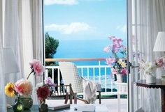 Room With a View: The terrace off the master bedroom offers an uninterrupted view of the ocean.Source: Courtesy of Oprah.com