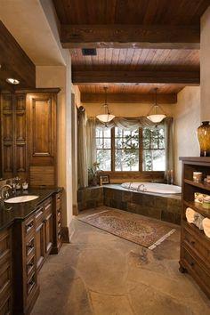 Gorgeous Rustic Bathroom!