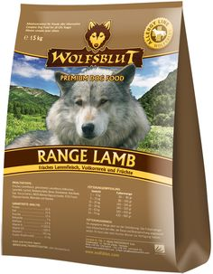 Wolfsblut Range Lamb ist ein Premium-Trockenfutter ohne Getreide, Soja, Zucker usw. #hundefutter #trockenfutter #wolfsblut #healthfood24
