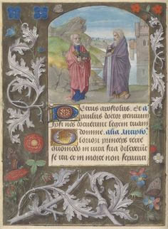 The Christian Concept of Equality: saints peter and paul Мanuscrits du Maître aux-fleurs datant du XVe siècle