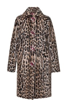 Embellished Goat Fur Coat by BLUMARINE for Preorder on Moda Operandi