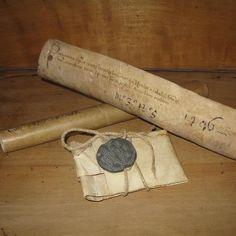 pergamene notarili quattrocentesche e bolla plumbea pontificia di Clemente XI  [www.libriantichionline.com]