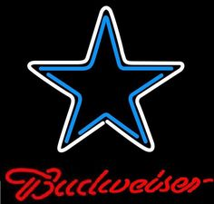 "New budweiser #dallas #cowboys nfl neon sign 20""x20"" #be161m ship from usa,  View more on the LINK: 	http://www.zeppy.io/product/gb/2/291832466328/"