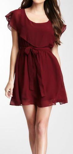Flowy burgundy dress...maybe a little bit longer though