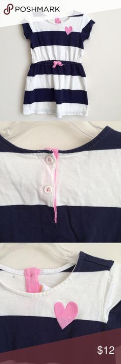 Girls Gymboree Navy & White Dress Size 4 This nautical inspired navy blue & white striped shirt sleeve dress is new with tags attached from a smoke-free home.  