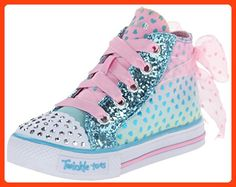 Skechers Kids Shuffles-Pixie Bunch Light-Up Sneaker,Turquoise/Pink,5 M US Toddler (*Partner Link)