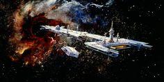 70s Sci-Fi Art - 1979 The Black Hole concept art, by Peter Ellenshaw