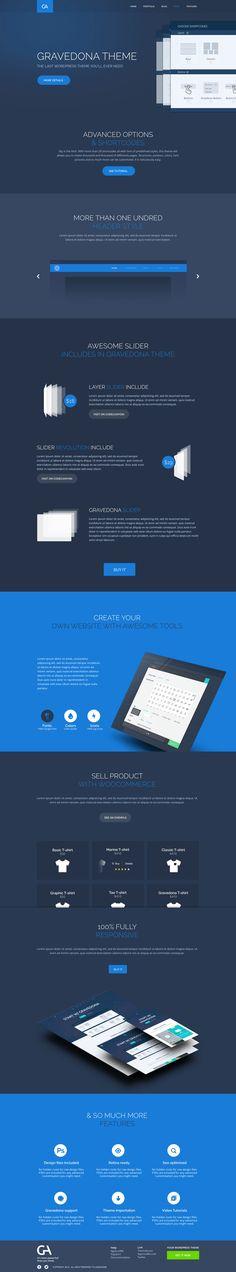Tour Gravedona Theme - by Barthelemy Chalvet | #ui #webdesign #wordpress #responsive