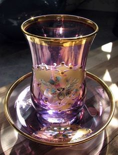 Pretty Tea Glass