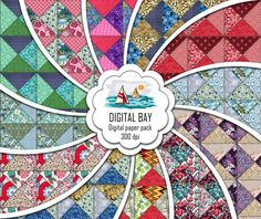 PATCHWORK  Digital paper pack  Instant download  by DigitalBay