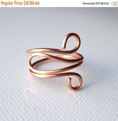 HOLIDAY SALE Copper ring Copper jewelry by SimplyWireWrapped