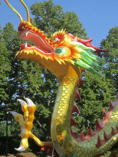 Dragon at Lantern Festival at Missouri Botanical Gardens